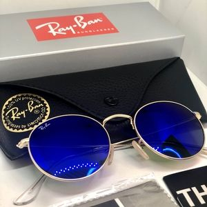 Ray-ban 3447 flash bleu lens 50mm unisex